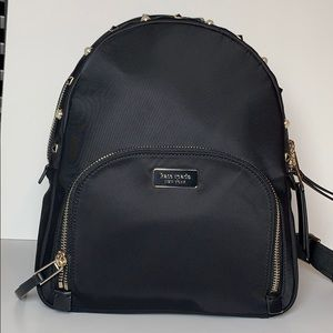 New Kate Spade Black Studded Lyon Medium Backpack